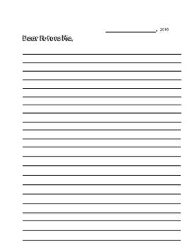 Dear Future Me letter