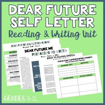 Dear Future Self Letter Unit