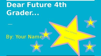 Dear Future Student- End of the Year Power Point Template