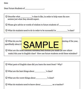 Dear Future Student Letter