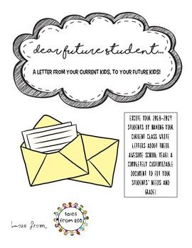 Dear Future Students Letter
