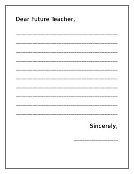 Dear Future Teacher Letter