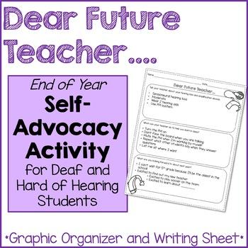 Dear Future Teacher...Self-Advocacy Activity