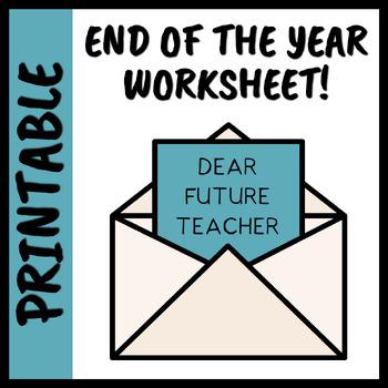 Dear Future Teacher Worksheet