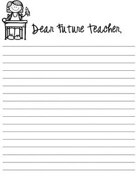 Dear Future Teacher, an End of Year writing unit