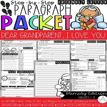 Dear Grandparent, It's Your Day!  Friendly Letter Step-Up Paragraph Packet