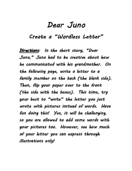 Dear Juno - Create a Wordless Letter