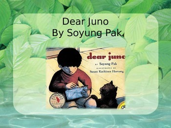 Dear Juno, Pak, Text Talk, Collaborative Conversations