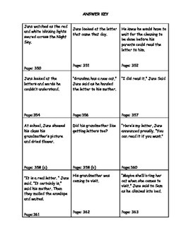 Dear Juno Sentence Scavenger Hunt and Sequencing Activity