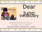 Dear Juno Vocabulary