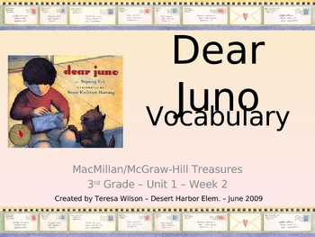Dear Juno Vocabulary