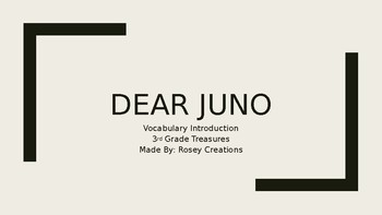 Dear Juno Vocabulary Powerpoint