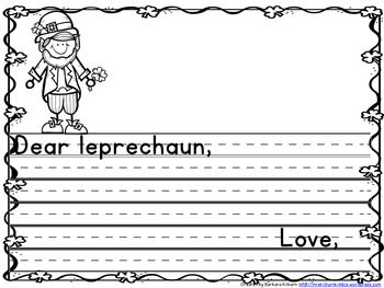 Dear Leprechaun Question Writing Activity