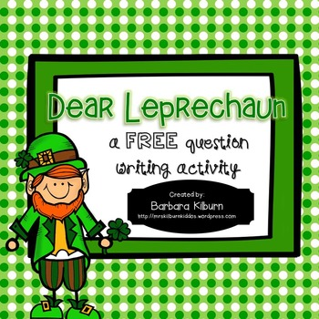 Dear Leprechaun Question Writing Activity