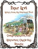 Dear Levi Comprehension and Literature Check-Ins Bundle