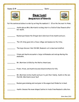 Dear Levi Literature Check-Ins Packet