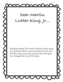 Dear MLK Jr. Writing Prompt