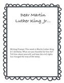 Dear MLK Jr. Writing Prompt
