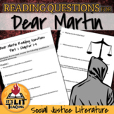 Dear Martin Reading Comprehension Questions