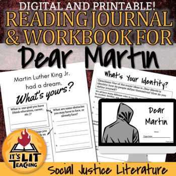 Dear Martin Reading Journal and Workbook