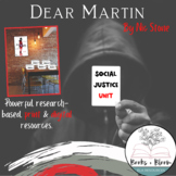 Dear Martin by Nic Stone: Engaging Social Justice Unit Bundle- Distance Learning