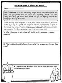 Dear Mayor ... A Persuasive Writing Assignment
