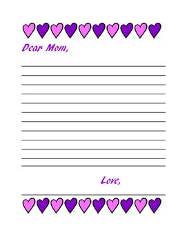 Dear Mom Letter