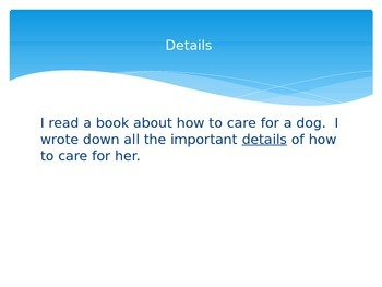 Dear Mr. Blueberry Vocabulary PowerPoint