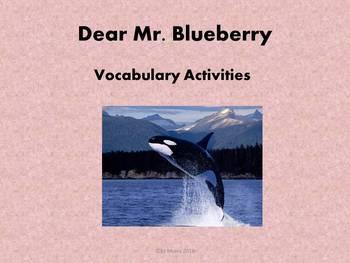 Dear Mr. Blueberry Vocabulary unit