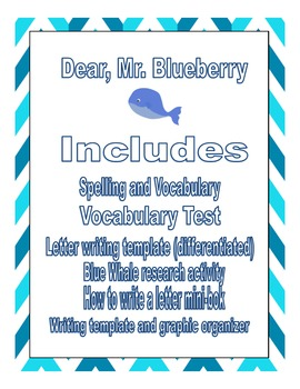 Dear, Mr. Blueberry (includes blue whale research activity