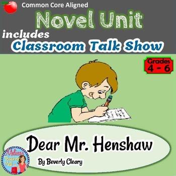 Dear Mr. Henshaw Novel Study and Activities