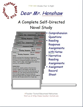 Dear Mr. Henshaw: A Complete Novel Study
