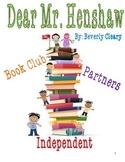 Dear Mr. Henshaw Book Club Project
