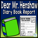 Dear Mr. Henshaw Book Report Project: Diary from a Character's Point of View