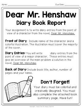 dear mr henshaw book report