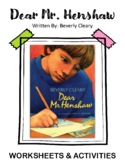 Dear Mr. Henshaw. By Beverly Cleary. Worksheets and Activites