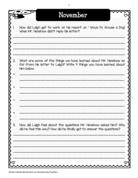 Dear Mr. Henshaw - Complete Novel Study Unit ( Bundle)