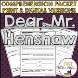 Dear Mr. Henshaw Comprehension Packet