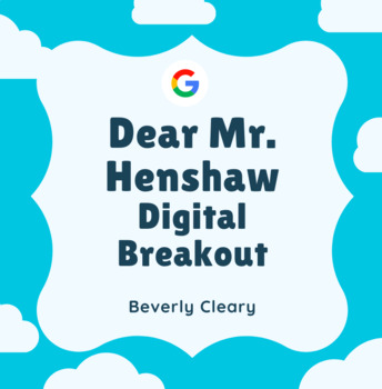 Dear Mr. Henshaw Digital Breakout Escape Room