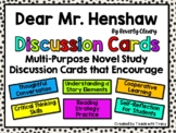 Dear Mr. Henshaw Discussion Cards PLUS Extension Activities