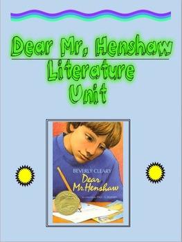 Dear Mr. Henshaw Literature Unit