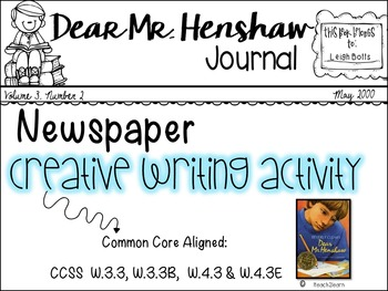 Dear Mr. Henshaw Novel Study : Creative Writing