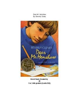 Dear Mr. Henshaw Novel Stody