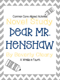 Dear Mr. Henshaw Novel Study Activity Pack