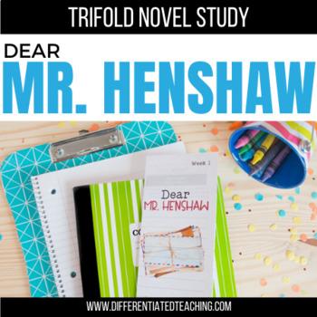 Dear Mr. Henshaw Foldable Novel Study Unit