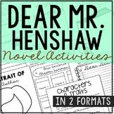 DEAR MR. HENSHAW Novel Study Unit Activities, In 2 Formats