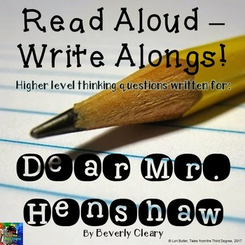 Dear Mr. Henshaw Read Aloud Write Along