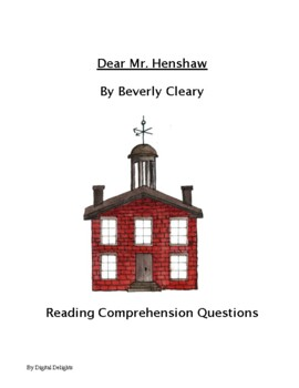 Dear Mr. Henshaw Reading Comprehension Questions