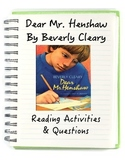 Dear Mr. Henshaw Reading Comprehension/Activities