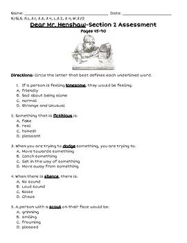 Dear Mr. Henshaw Section 2 Assessment